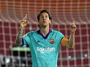 Lionel Messi được vinh danh sau khi giúp Barca thắng Mallorca