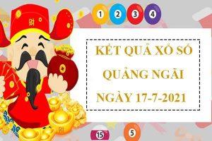 Soi cầu xổ số Quảng Ngãi thứ 7 ngày 17/7/2021