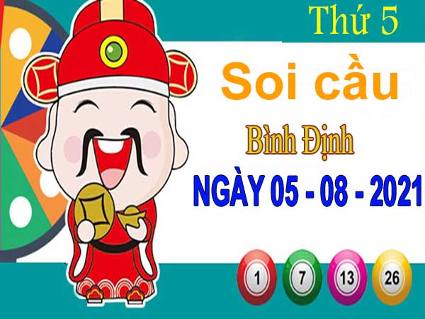 Soi cầu XSBDH ngày 5/8/2021 – Soi cầu đài xổ số Bình Định thứ 5
